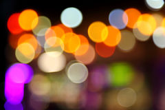 Abstract bokeh background of Christmaslight Stock Photography