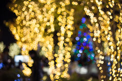 Abstract  bokeh background of Christmaslight Stock Photo