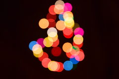 abstract  bokeh background colorful lights effects Stock Image