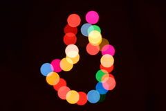 abstract  bokeh background colorful lights effects Stock Photo