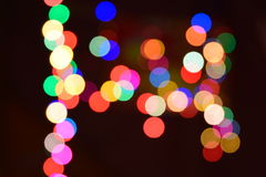 abstract  bokeh background colorful lights effects Stock Photography