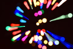 abstract  bokeh background colorful lights effects Stock Images