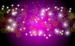 Abstract bokeh background. Festive defocused lights.Vector. Illustration Stock Image