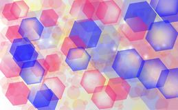 Abstract bokeh background. Festive defocused lights.Vector. Illustration Stock Photo