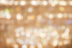 Abstract bokeh background : golden glittering festive chrismas b