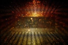 Abstract bokeh background of golden light burst. Abstract bokeh background of golden light burst stock illustration