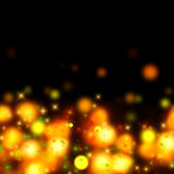 Abstract bokeh background, lights. Festive fantasy magical illustration with bokeh lights Royalty Free Stock Photography
