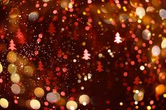 Abstract bokeh background for the New Year royalty free illustration
