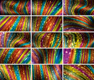 Abstract bokeh background set Royalty Free Stock Photo