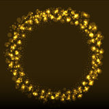 Abstract bokeh background with shining particles. Royalty Free Stock Images