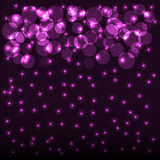 Abstract bokeh background with shining particles. Stock Photos