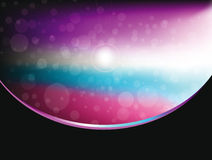Abstract bokeh background with space motive Stock Photography