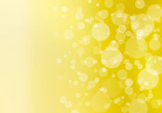 Abstract bokeh background in yellow Stock Image