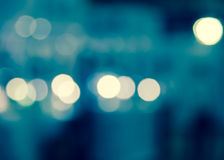 Abstract bokeh blur in city life background Stock Photography