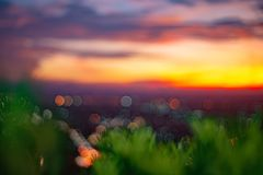 Abstract bokeh blurred from beautiful sunset at Songkhla Thailand. cityscape in the evening. Abstract bokeh blurred from beautiful sunset at Songkhla Thailand stock images