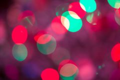 Abstract Bokeh blurred color light can use background. Colorful background with defocused lights Royalty Free Stock Image