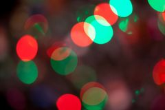 Abstract Bokeh blurred color light can use background. Colorful background with defocused lights Royalty Free Stock Images