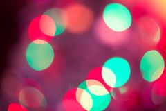 Abstract Bokeh blurred color light can use background. Colorful background with defocused lights Stock Images