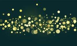 Abstract bokeh blurred lights wallpaper Stock Image