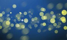 Abstract bokeh blurred lights wallpaper Royalty Free Illustration