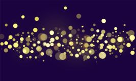 Abstract bokeh blurred lights wallpaper Stock Illustration