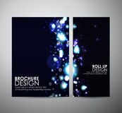 Abstract bokeh. Brochure business design template or roll up. Royalty Free Stock Photo