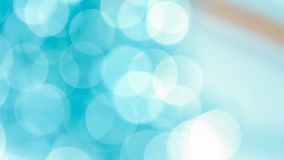 Abstract bokeh Christmas lights concepts. Defocused lights circle bokeh, abstract mint blue background stock illustration