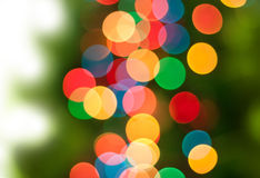 Abstract bokeh Christmas tree background. Royalty Free Stock Photos