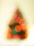 Abstract bokeh Christmas tree background. Stock Photo