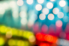 Abstract bokeh colorful lights defocused background Stock Photos