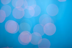 Abstract bokeh on dark blue Stock Photography