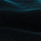 Abstract bokeh dots background. Abstract bokeh dots waves. Vector background. Green on black Royalty Free Stock Photo