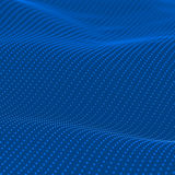 Abstract bokeh dots waves. Blue background stock illustration