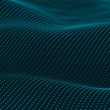 Abstract bokeh dots waves. Blue on black Stock Images