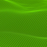Abstract bokeh dots waves. Green background vector illustration