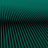 Abstract bokeh dots waves. Green on black Royalty Free Stock Images