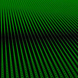 Abstract bokeh dots waves. Green on black royalty free illustration