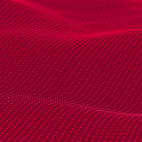 Abstract bokeh dots waves. Red background Stock Photo