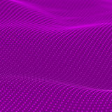 Abstract bokeh dots waves. Violet background Stock Photo