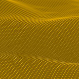 Abstract bokeh dots waves. Yellow background vector illustration