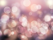Abstract bokeh effect romantic purple abstract background shiny and blurred wallpaper stock photos