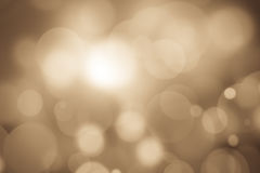 Abstract bokeh festive background with defocused lights.  Stock Image