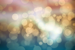 Abstract bokeh festive background with defocused lights.  Royalty Free Stock Photos