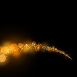 Abstract bokeh gold dust glitter star background Stock Images