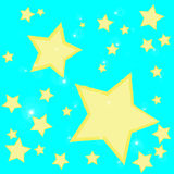 Abstract bokeh gold star on blue background Royalty Free Stock Images