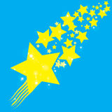 Abstract bokeh gold star on blue background Royalty Free Stock Photo