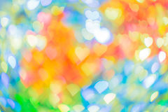 Abstract bokeh heart shape for valentine`s day Stock Photos