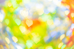 Abstract bokeh heart shape for valentine`s day Royalty Free Stock Photography