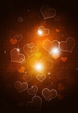 Abstract Bokeh Hearts Background Stock Image