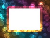 Abstract bokeh holiday lights  frame background Stock Images